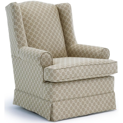 Best Home Furnishings Swivel Glide Chairs Roni Skirted Swivel Glider Chair