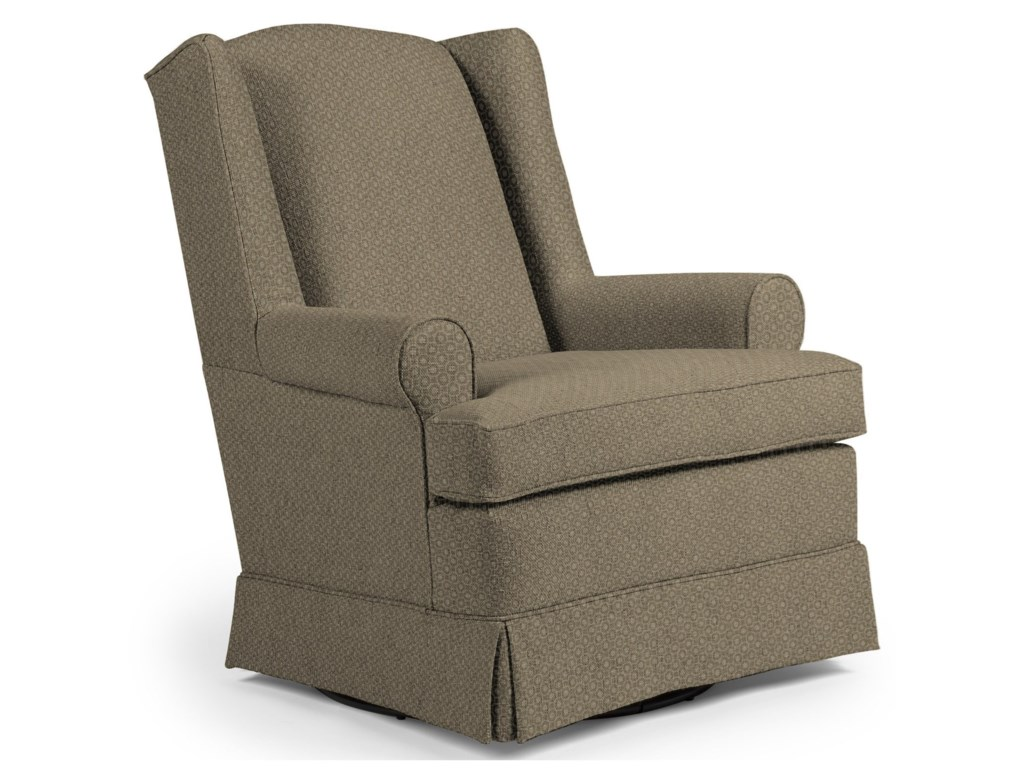 Best chairs glider - Best Home Furnishings Chairs Swivel Glide Roni Skirted Swivel Glider Chair Novello Home Furnishings Upholstered Chairs