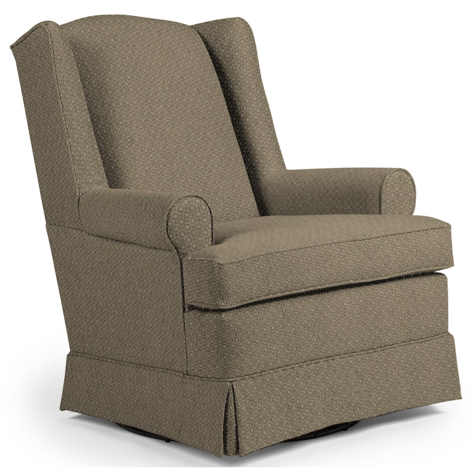 Best Home Furnishings Swivel Glide Chairs Roni Skirted Swivel Glider Chair