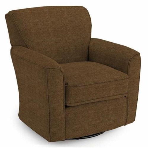 Best Home Furnishings Chairs - Swivel Glide Kaylee Swivel Barrel Arm Chair