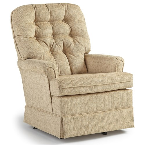 Best Home Furnishings Chairs Swivel Glide Joplin Swivel Rocker Chair Wayside Furniture