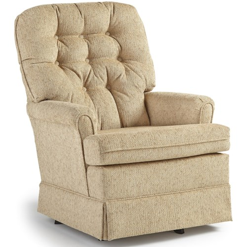 Best Home Furnishings Swivel Glide Chairs 1009 Joplin