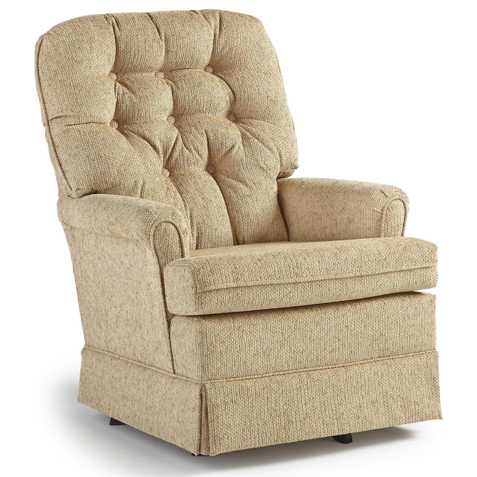 Best Home Furnishings Swivel Glide Chairs Joplin Swivel Rocker Chair