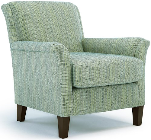 Best Home Furnishings Chairs - Club Carson Club Chair with Flared Arms