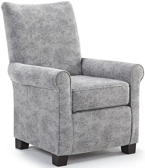 Best Home Furnishings Chairs - Club Traditional Club Chair with Wood Block Feet