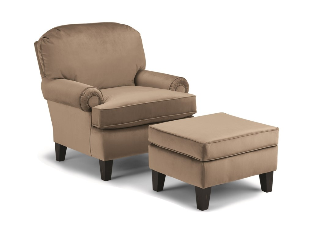 Best Home Furnishings Club ChairsTroy Club Chair and Ottoman Set