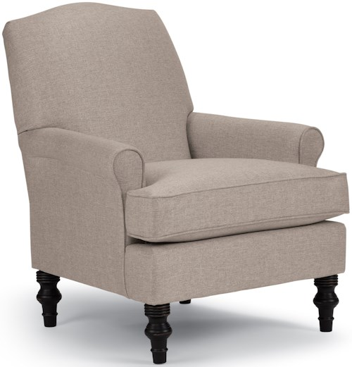 Best Home Furnishings Chairs - Club Casual Club Chair with Slight Camel Back