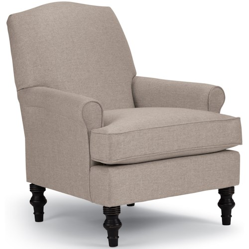 Best Home Furnishings Club Chairs Casual Club Chair with Slight Camel Back