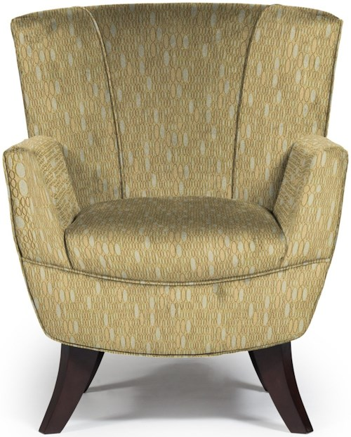 Best Home Furnishings Chairs - Club Bethany Flared-Back Club Chair