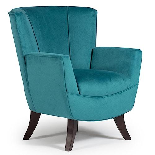 Best Home Furnishings Club Chairs Bethany Flared-Back Club Chair