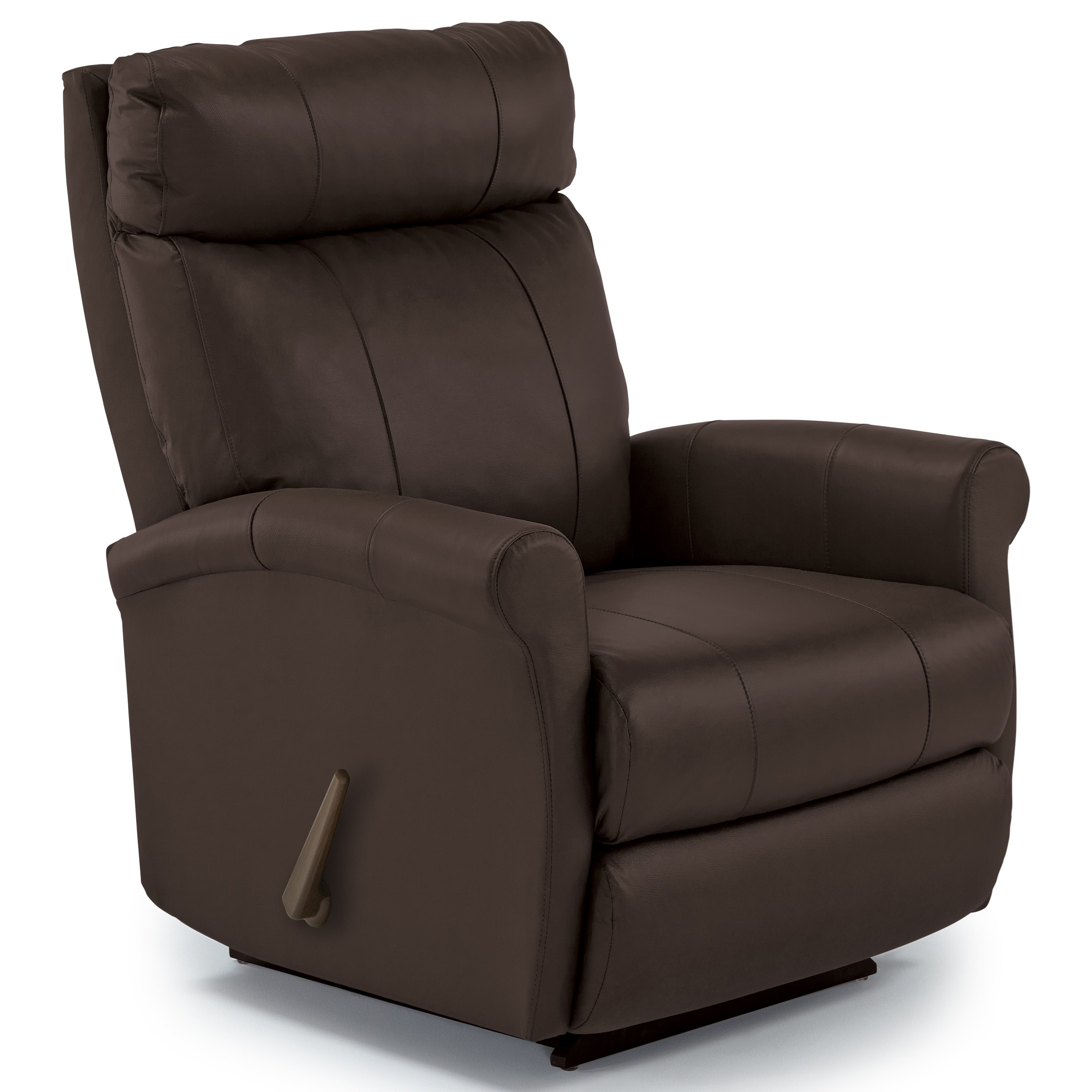 Power Rocker Recliner With Rolled Arms