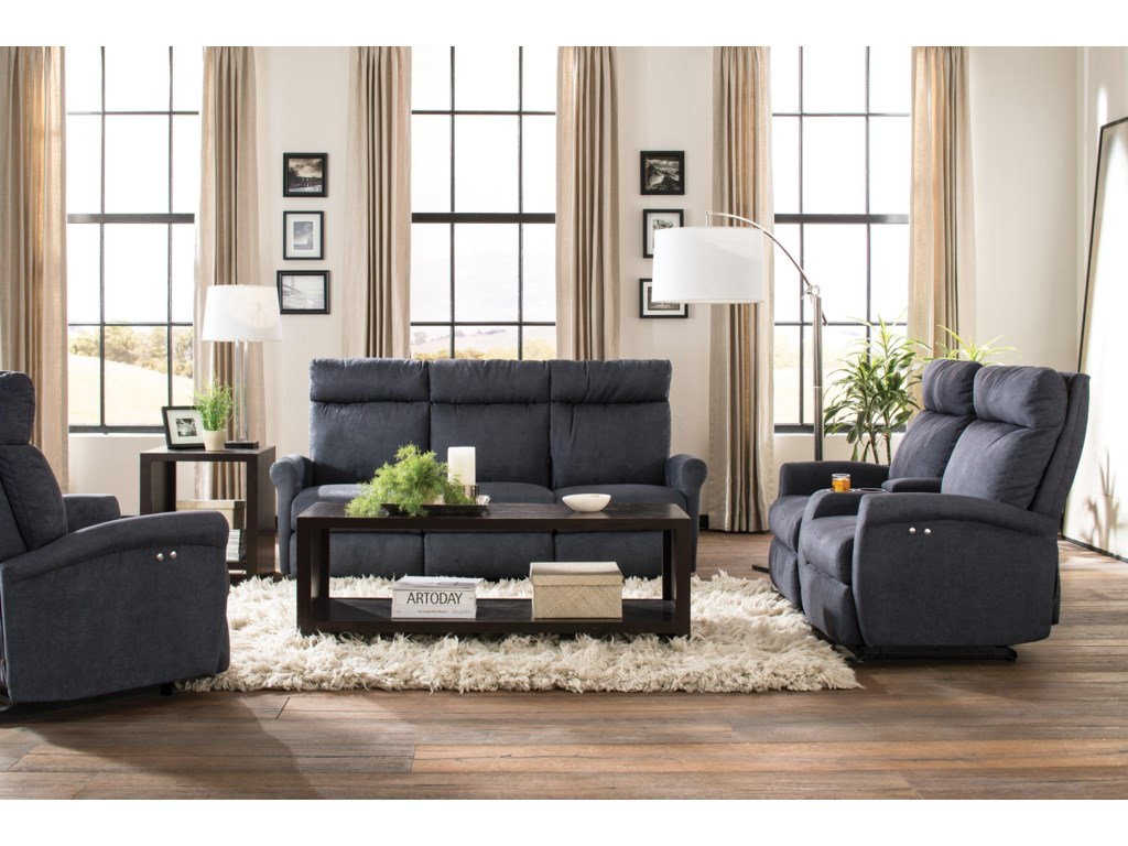 Best Home Furnishings CodiePower Rocking Reclining Loveseat w/ Console