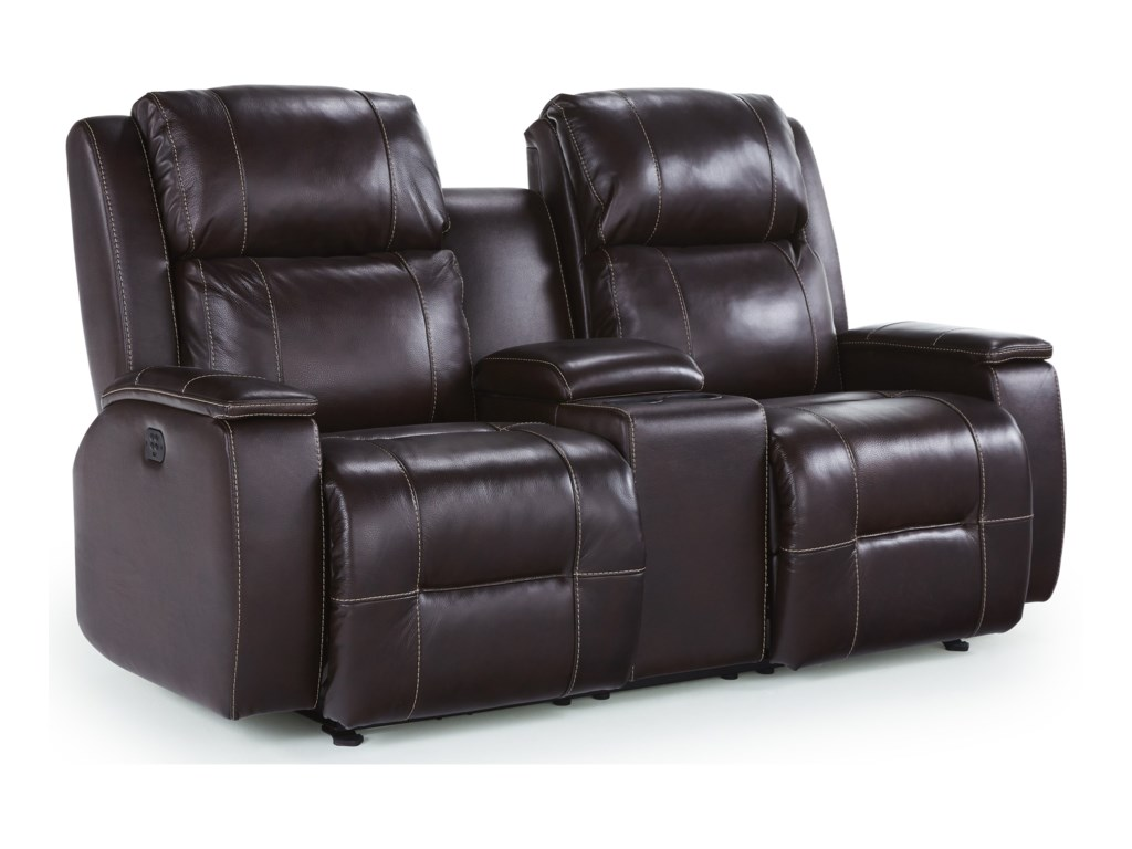 Best Home Furnishings ColtonPwr Reclining Console Love w/ Pwr Headrest
