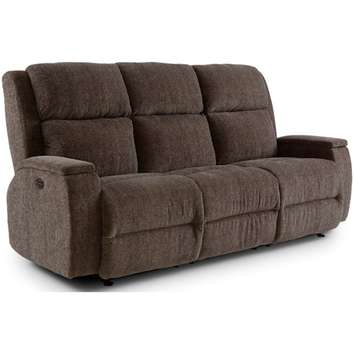 Best Home Furnishings Colton Power Space Saver Reclining Sofa with Power Tilt Headrest
