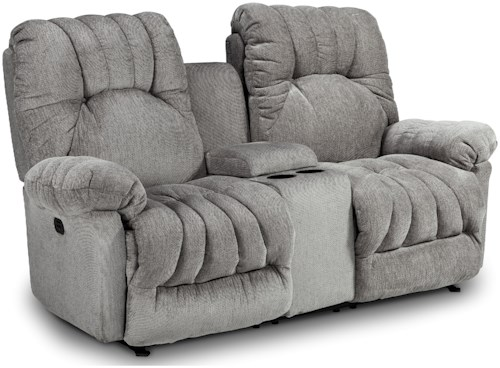 Best Home Furnishings Conen Power Rocking Reclining Loveseat with Cupholder Storage Console and Power Tilt Headrest