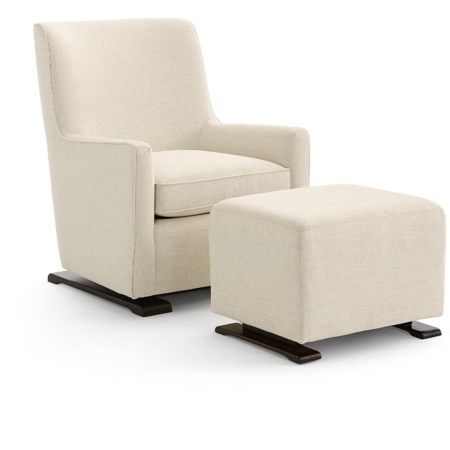 Swivel Glider and Gliding Ottoman Set