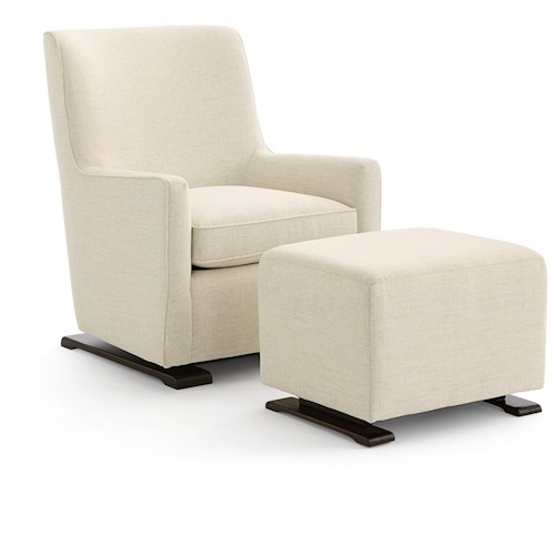 Best Home Furnishings Coral  Swivel Glider and Gliding Ottoman Set