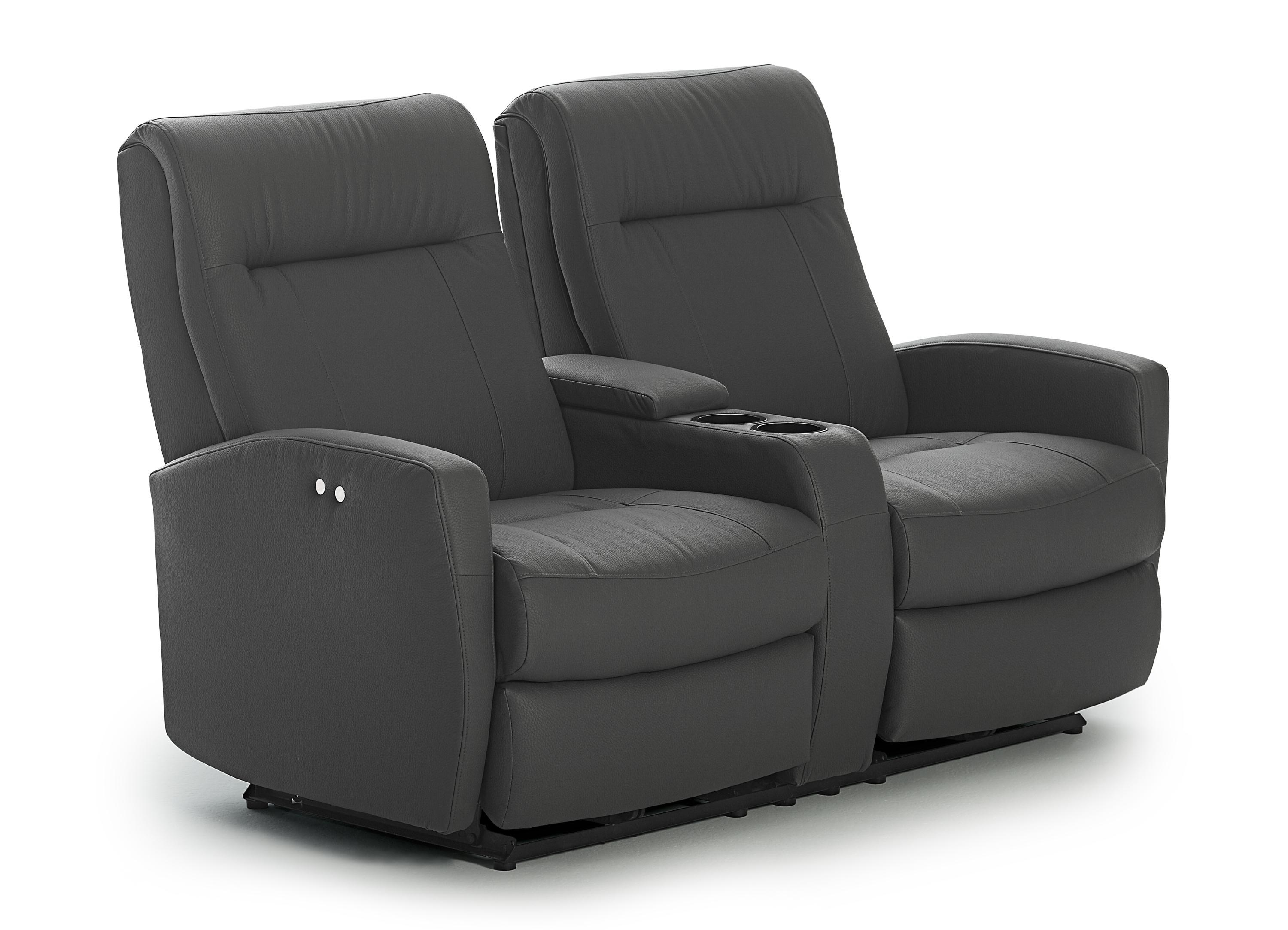 Contemporary Power Rocking Reclining Console Loveseat with Power Tilt Headrests and USB Charging Ports