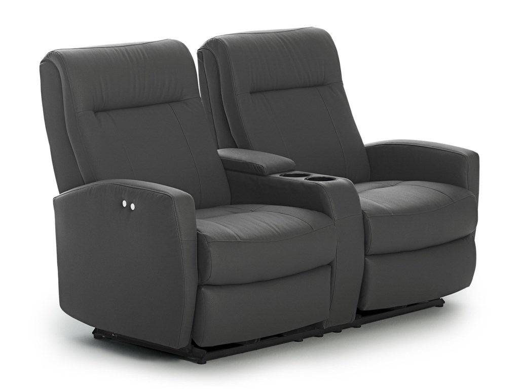 Best Home Furnishings CostillaSpace Saver Reclining Loveseat w/ Console