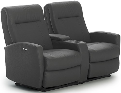 Best Home Furnishings Costilla Contemporary Power Rocking Reclining Loveseat with Drink Console and Charging Port
