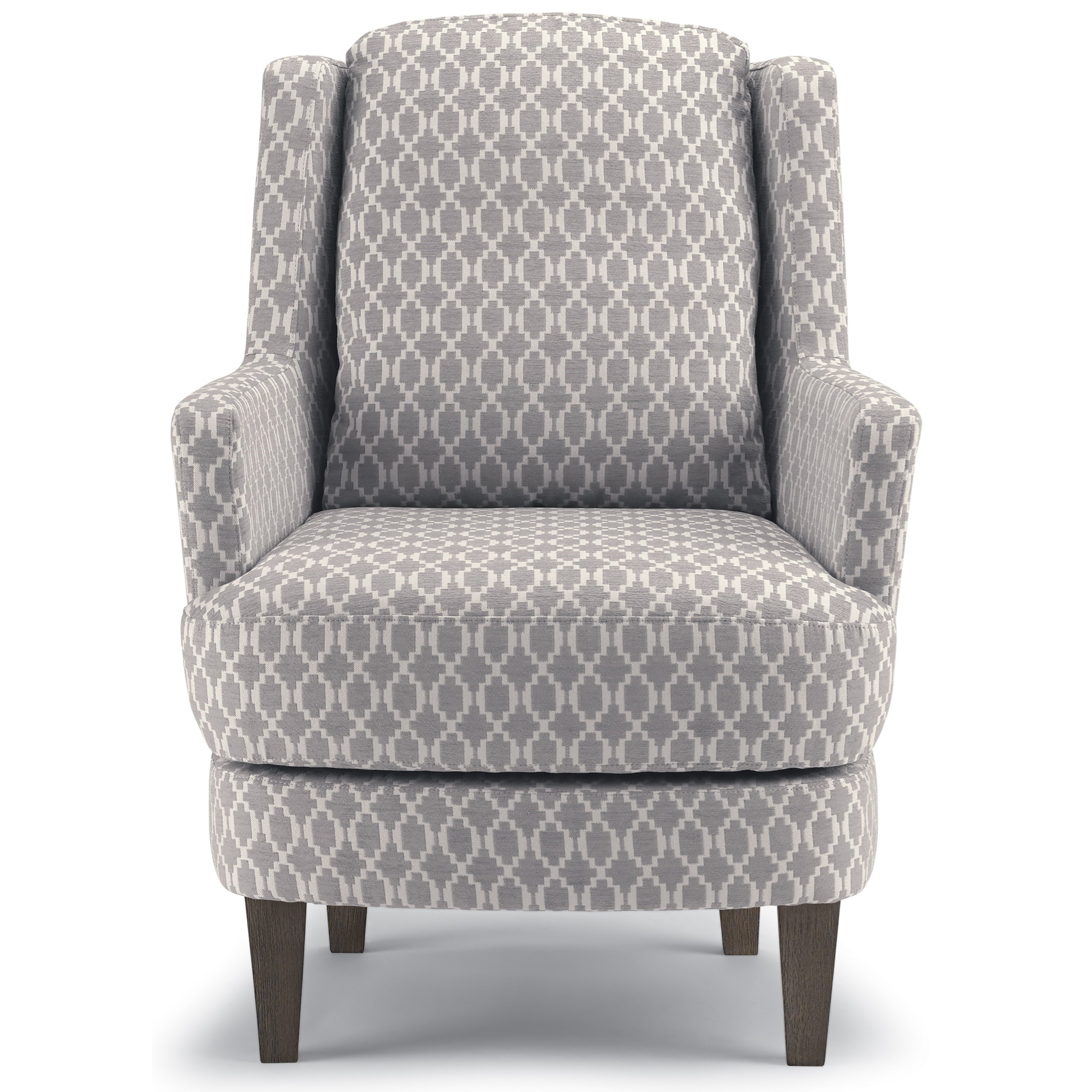 Crew Transitional Wing Back Swivel Barrel Chair By Best Home Furnishings
