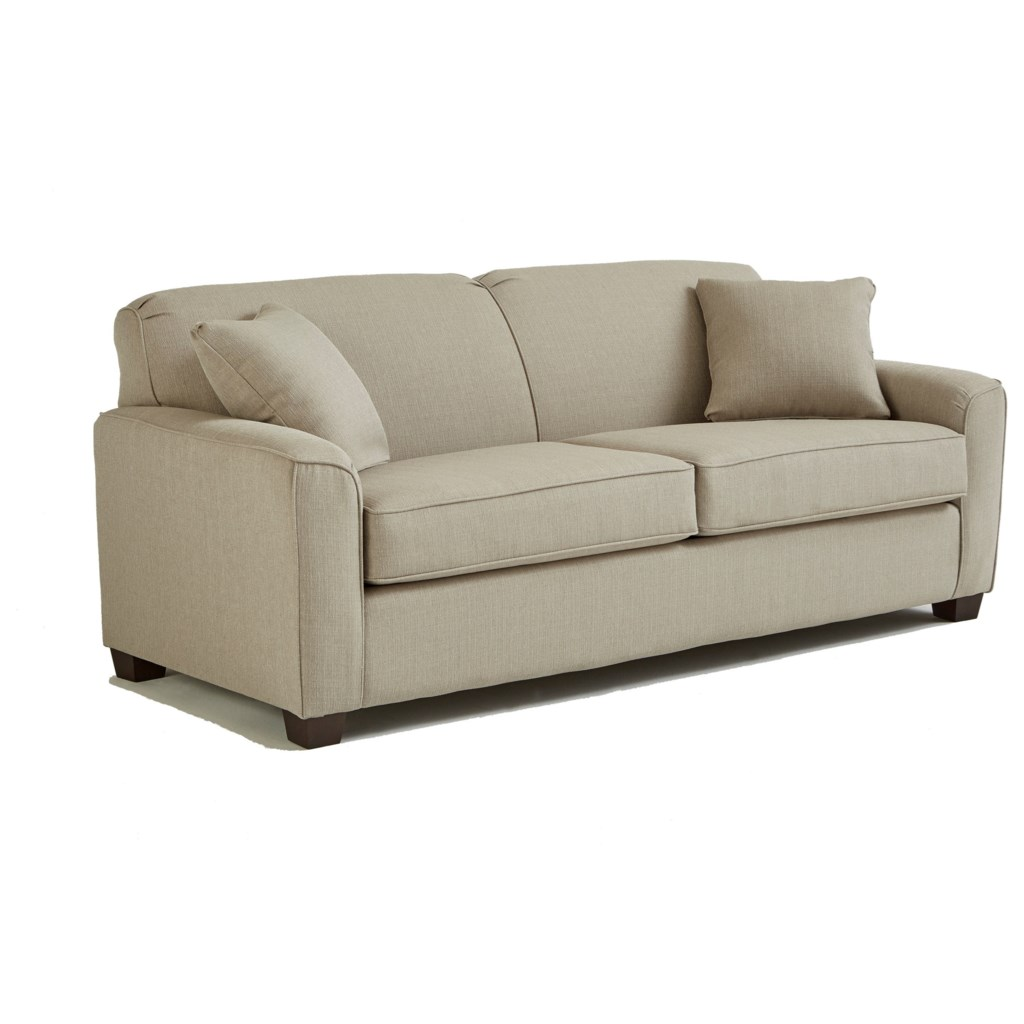 Best Home Furnishings Dinah S16qdp Contemporary Queen Sofa Sleeper  ~ Leather Sleeper Sofa Queen