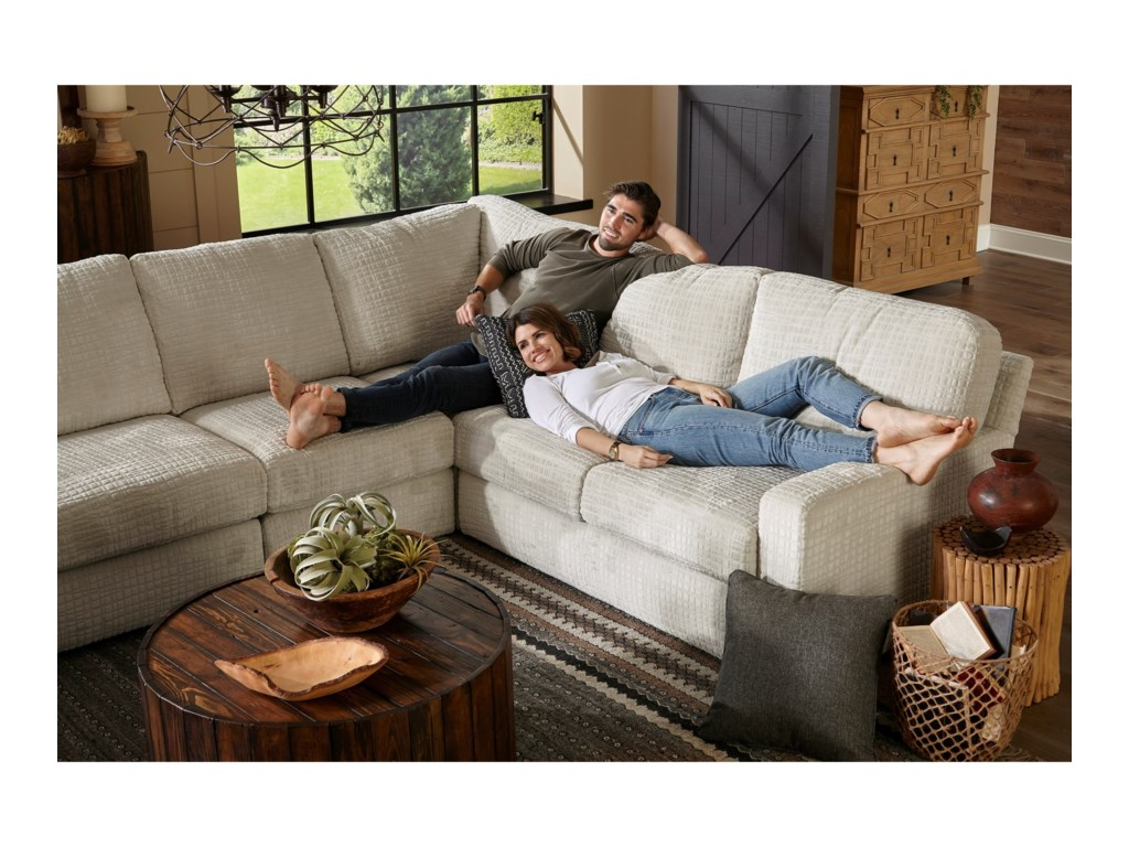 Best Home Furnishings Dovely Casual 5 Piece Sectional Sofa