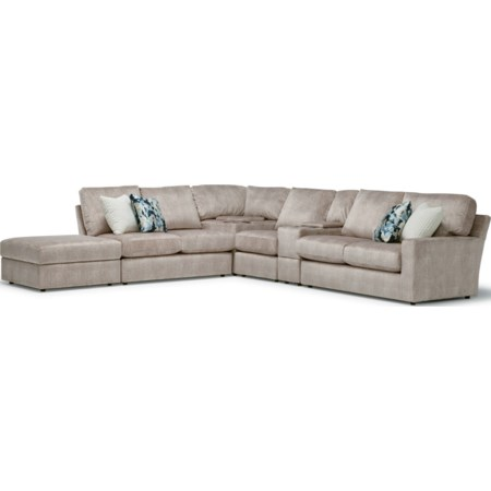 5-Seat Sofa w/ Wireless Charge & LAF Ottoman