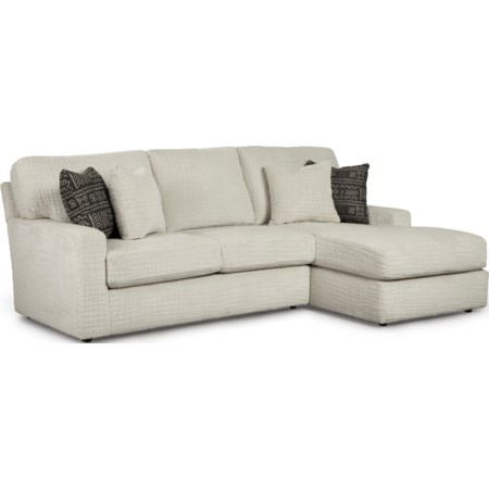 2 Piece Sectional Sofa w/ RAF Chaise