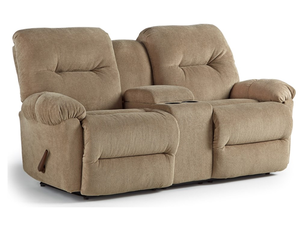 Best Home Furnishings EllisportSpace Saver Reclining Loveseat w/ Console