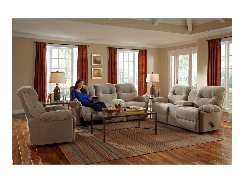 Best Home Furnishings EllisportPower Wallsaver Reclining Love w/ Console