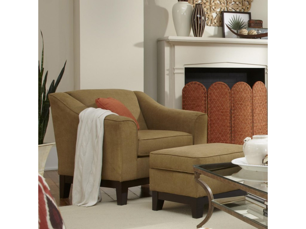 Best Home Furnishings EmelineCustom Chair & Ottoman