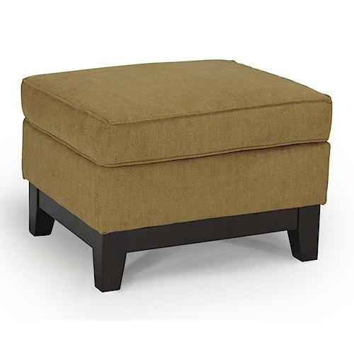 Best Home Furnishings Emeline <b>Customizable</b> Ottoman with Wood Legs