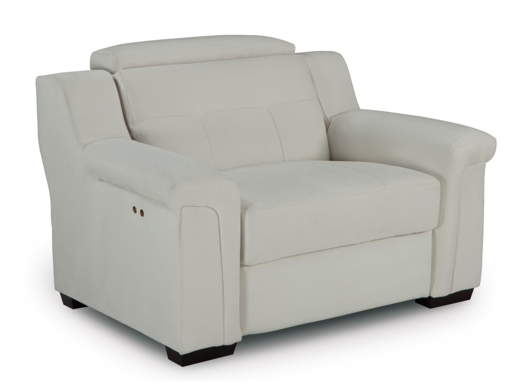 Best Home Furnishings Everette Oversized Power High Leg Recliner With  Adjustable Headrest  Novello Home Furnishings  High Leg Recliners