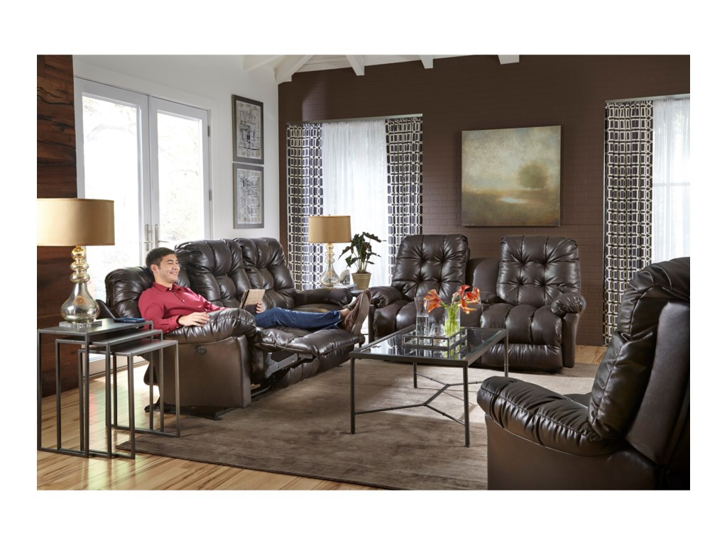 Best Home Furnishings EverlastingSpace Saver Reclining Love w/ Console