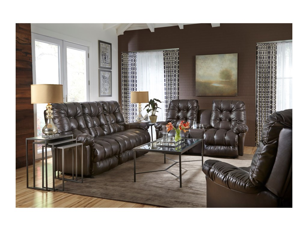Best Home Furnishings EverlastingPower Wall Reclining Loveseat w/ Console