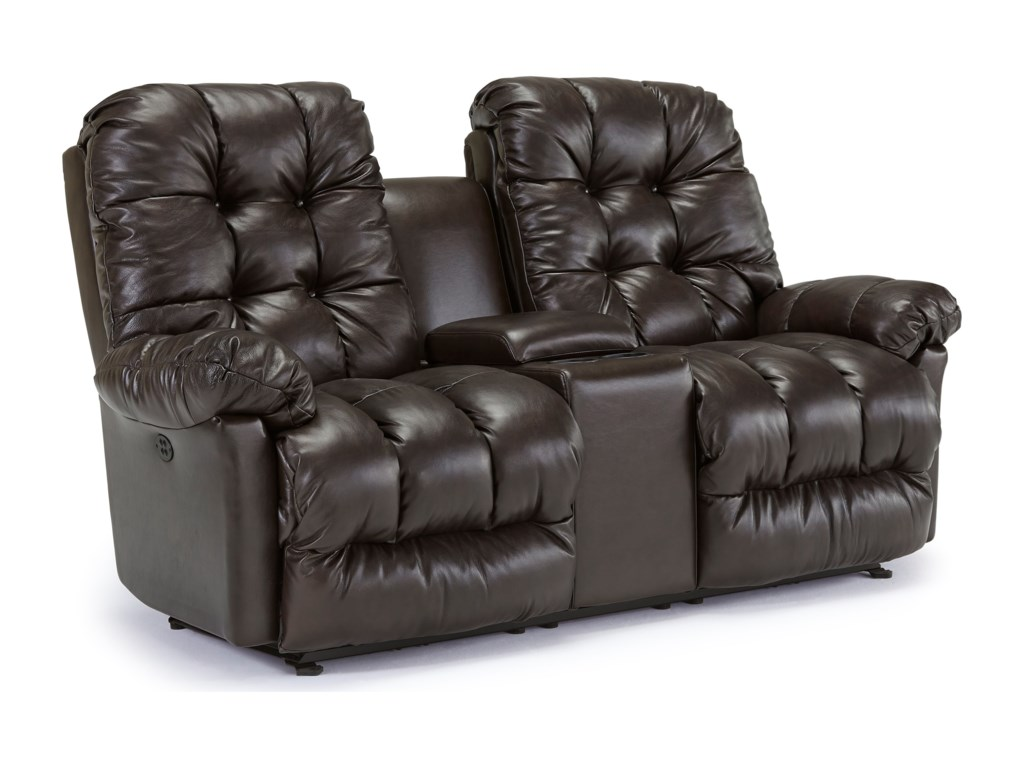 Best Home Furnishings EverlastingPower Rocking Reclining Loveseat w/ Console