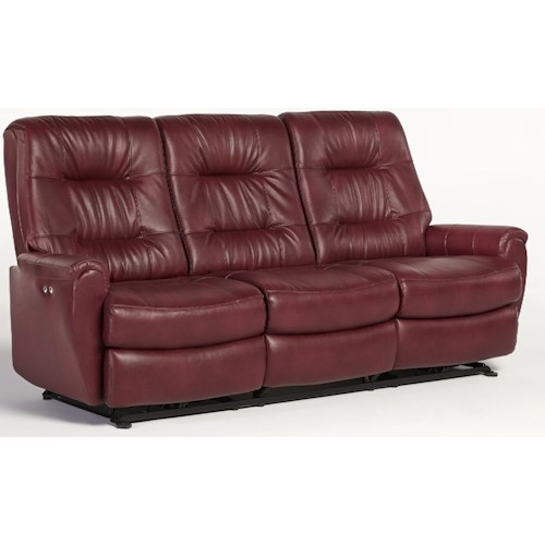 Best Home Furnishings Felicia  Small-Scale Reclining Sofa with Chic Button Tufting