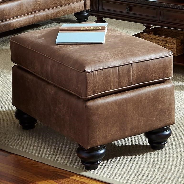 Best Home Furnishings Fitzpatrick Traditional Ottoman With Bun Feet
