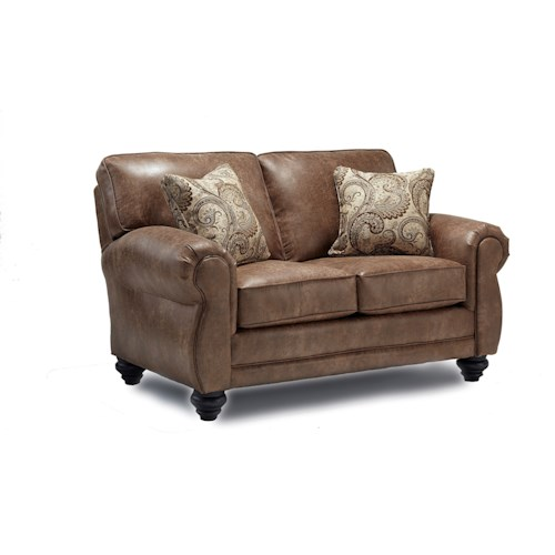 Best Home Furnishings Fitzpatrick Traditional 2-Seat Stationary Loveseat