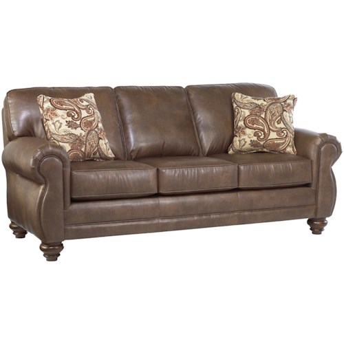 Best Home Furnishings Fitzpatrick Traditional 3-Seat Stationary Sofa