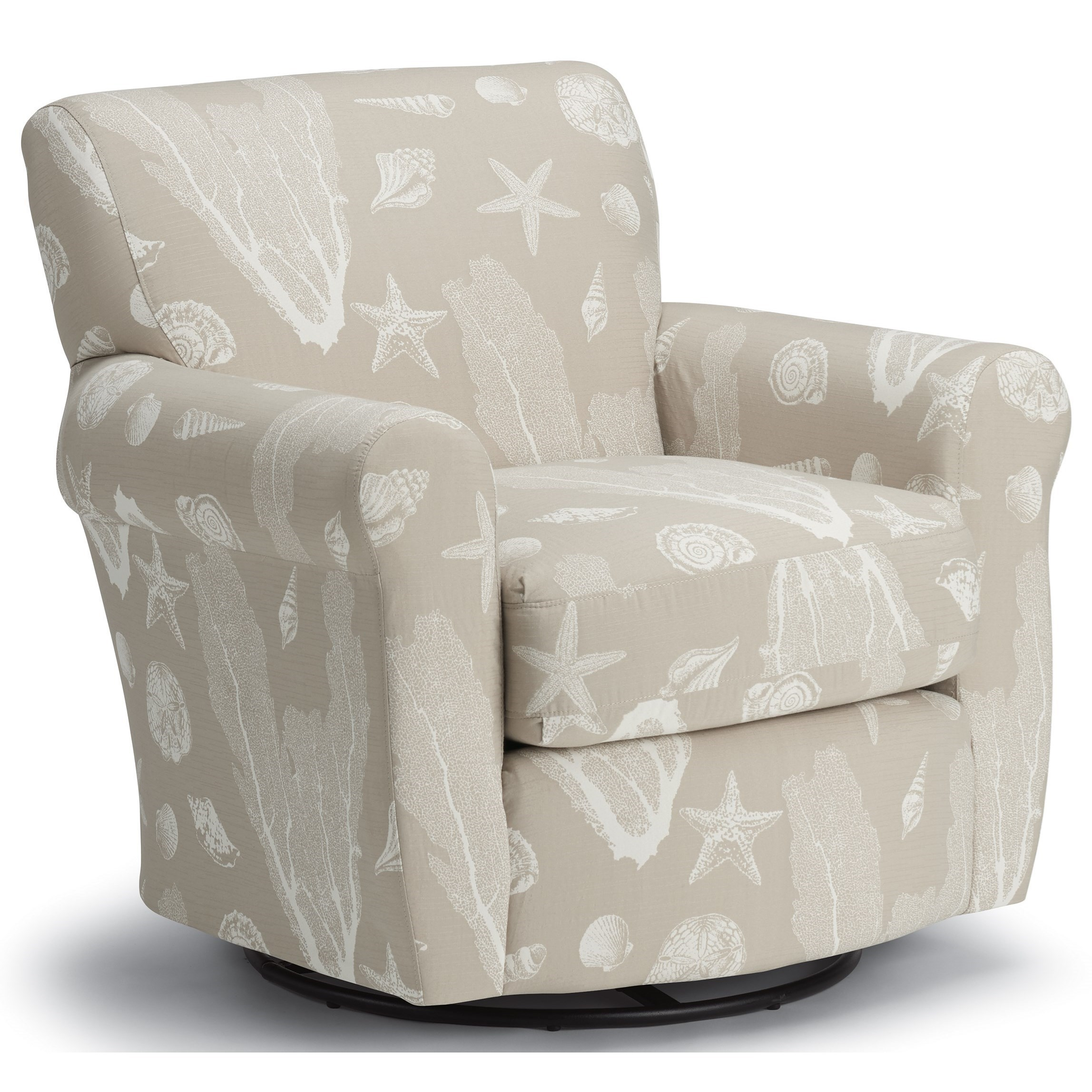 Transitional Swivel Glider Chair