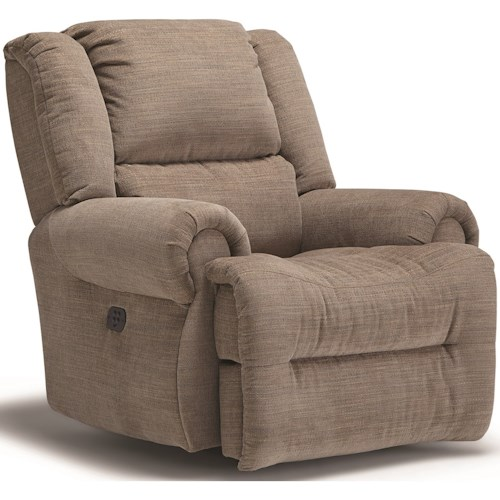 Best Home Furnishings Genet Power Rocking Recliner with Power Tilt Headrest and USB Charging Port