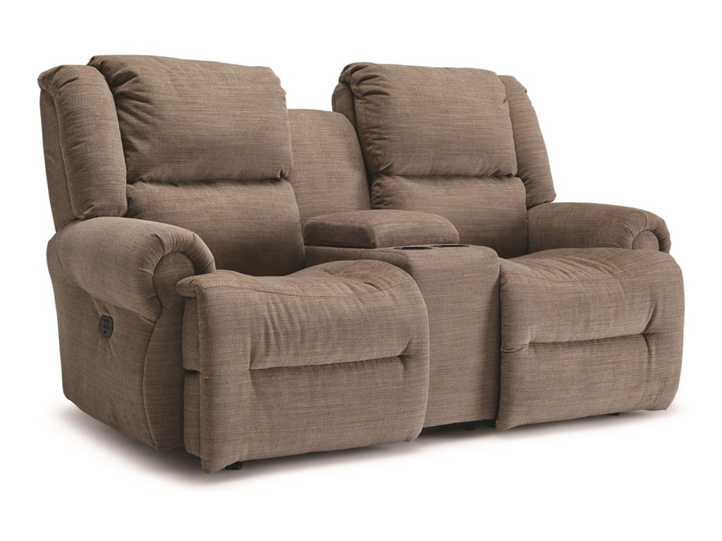Best Home Furnishings GenetReclining Space Saver Console Loveseat