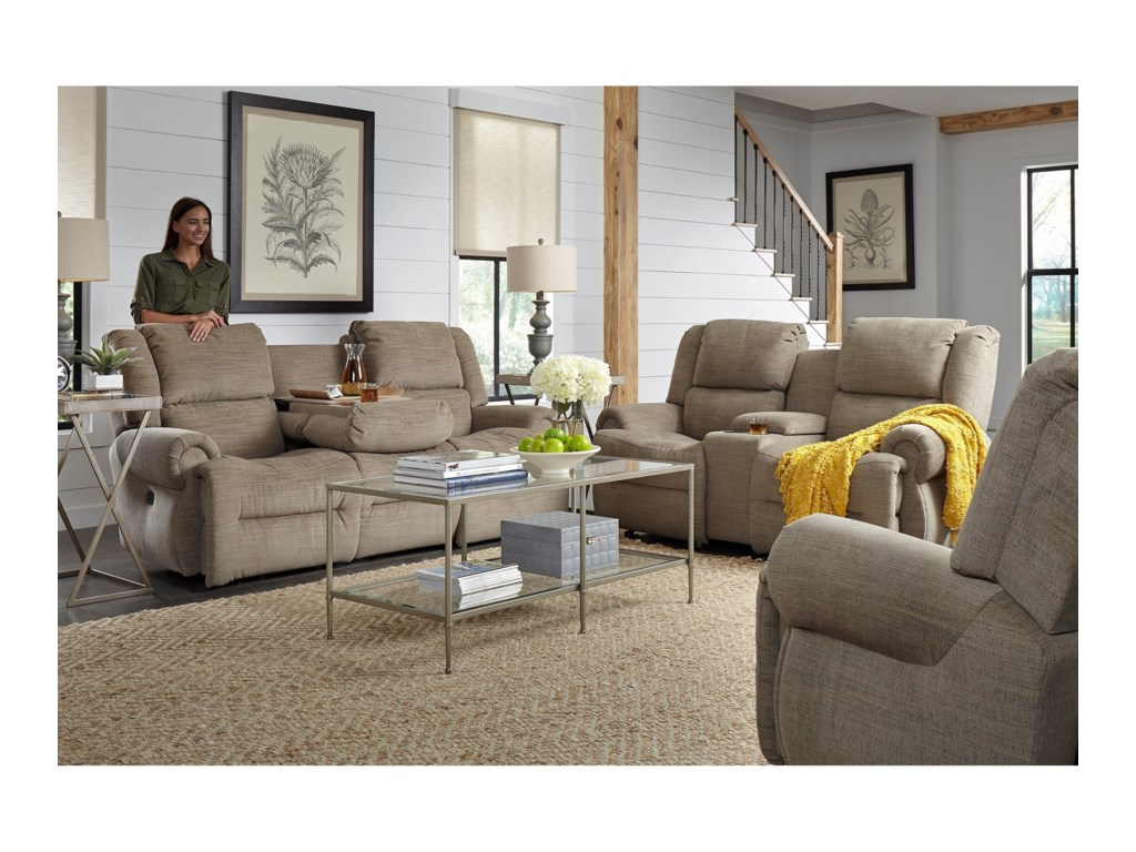 Best Home Furnishings GenetRocking Reclining Console Loveseat