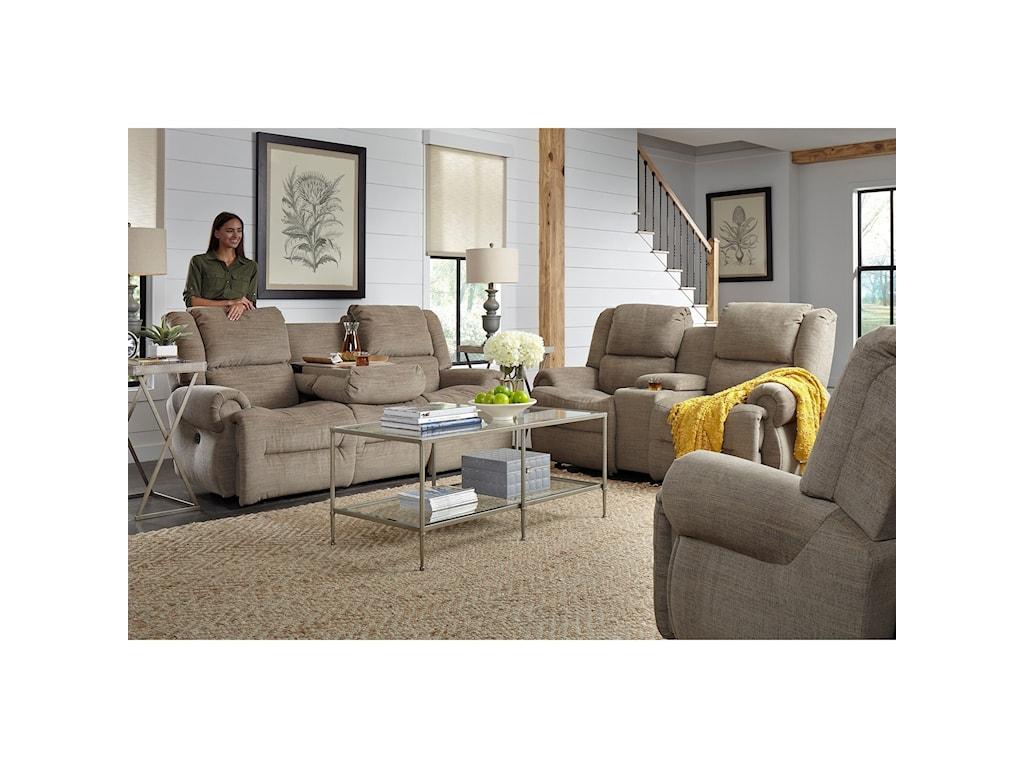 Best Home Furnishings GenetPwr Tilt Headrest Wall Console Recl Love