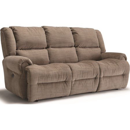 Pwr Tilt Headrest Wall Reclining Sofa w/Tray