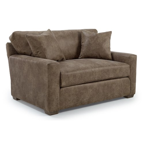 Best Home Furnishings Hannah Contemporary Chair and 1/2 with Deep Seat