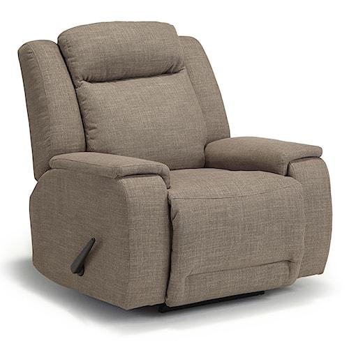 Best Home Furnishings Hardisty Casual Swivel Rocker Recliner with Memory Foam Cushions