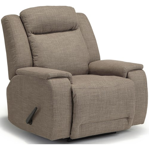 Best Home Furnishings Hardisty Casual Swivel Glider Recliner with Memory Foam Cushions